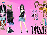 Click to Play Pink Star Dress Up