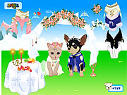 Click to Play Pet Wedding Dress up