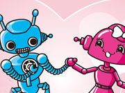 Click to Play Cute Robots in Love