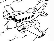 Click to Play Coloring Airplanes -1