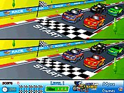 Click to Play Racing Cartoon Differences